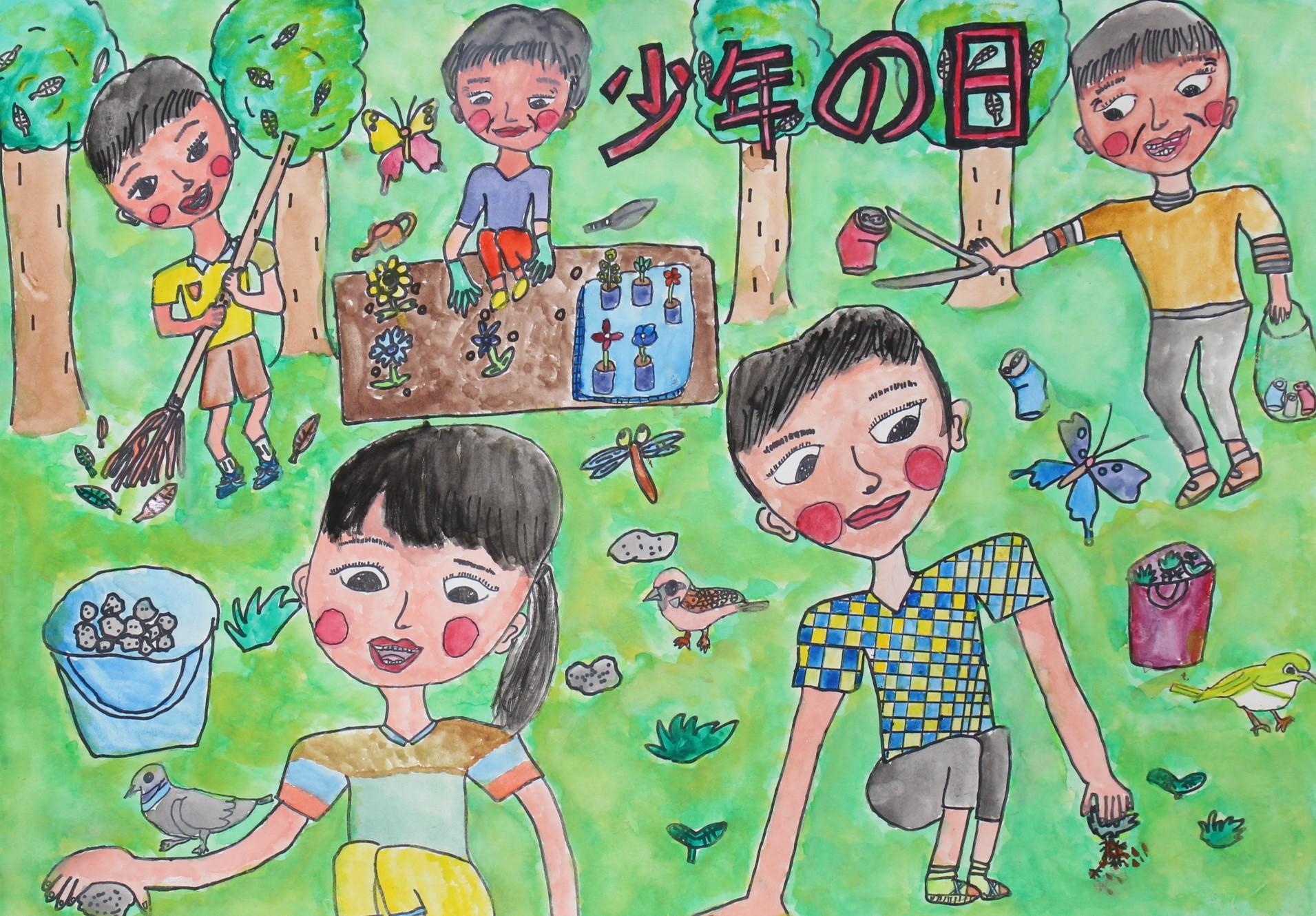 優良賞-宮崎市立加納小学校 4年 冨田 夏奈(とみた かな)さん
